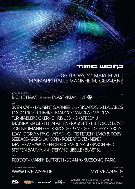 La TimeWarp 2010 aura lieu le 27 mars 2010 à Mannheim (Allemagne)