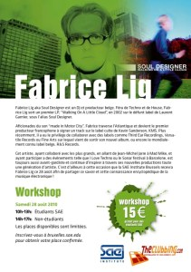 La SAE Institute Brussels propose deux workshops avec Fabrice Lig