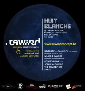 Rewind est de retour pour la Nuit Blanche 2010