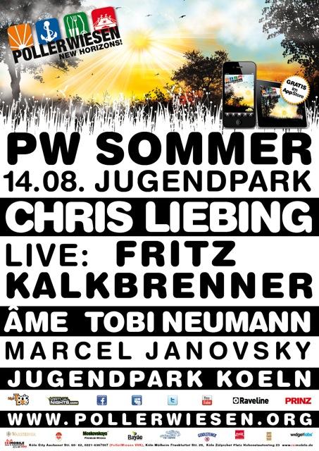 Pollerwiesen au Jugendpark de Cologne ce 14 aout