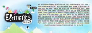 Elements Festival 2013, 4ième édition ce samedi 21 septembre