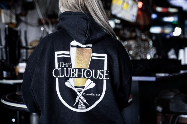The Clubhouse Camarillo Sports Bar and Grill Hoodie Back