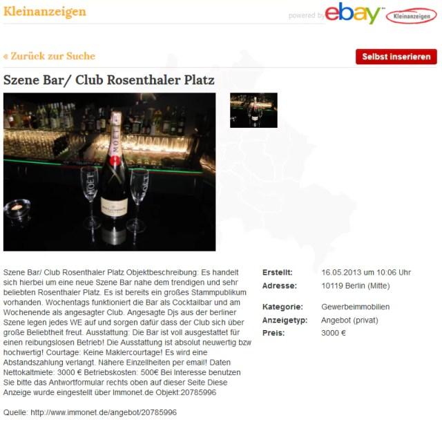 szene bar ebay kleinanzeigen