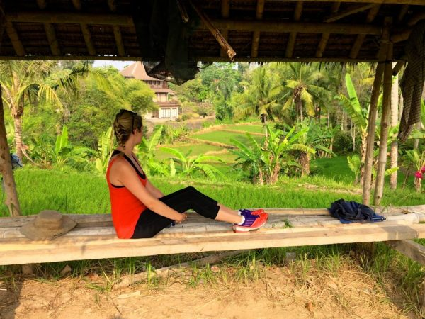 girl sitting and look at the rice paddies in Ubud Bali Indonesia; 2016 Sucked and This is What I Learned From It
