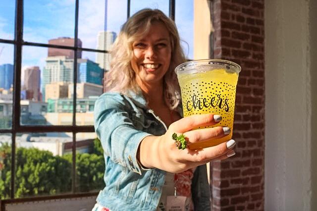 Blonde Cheers loft Los Angeles Create & Cultivate