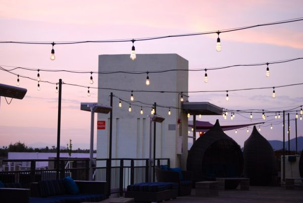 Sunset rooftop view Clarendon Hotel and Spa