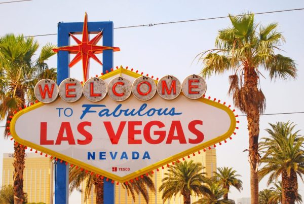 epic road trip to Las Vegas from Los Angeles; Welcome to Fabulous Las Vegas nevada sign