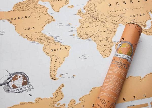 Best Travel Gift Ideas; scratch map
