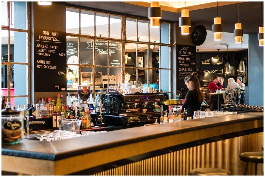 Staying at Ruby Marie; interior bar