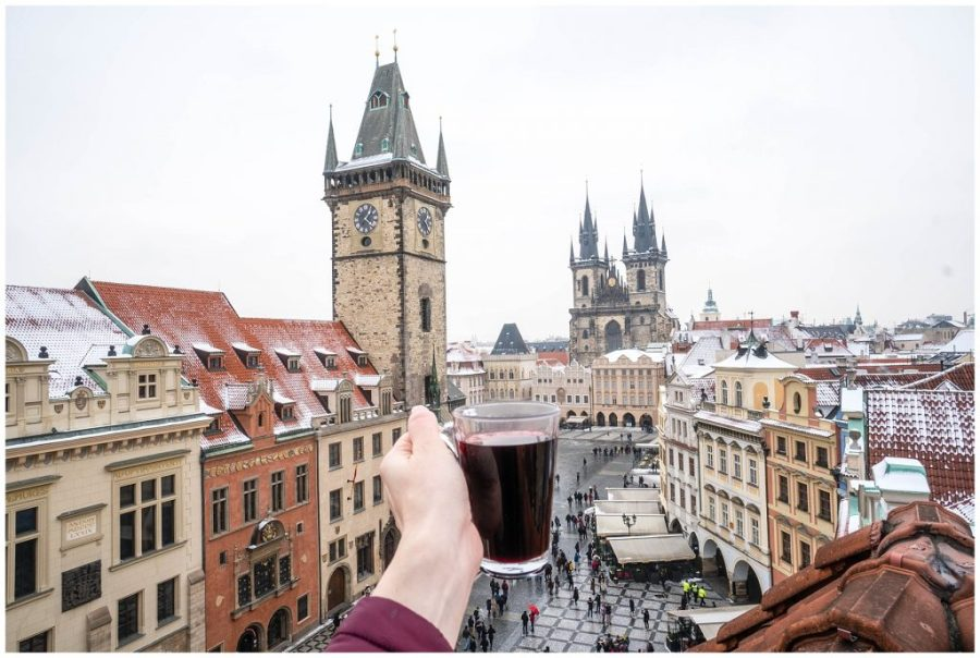 Photos That Will Make You Want to Visit Prague; view from Terasa U Prince