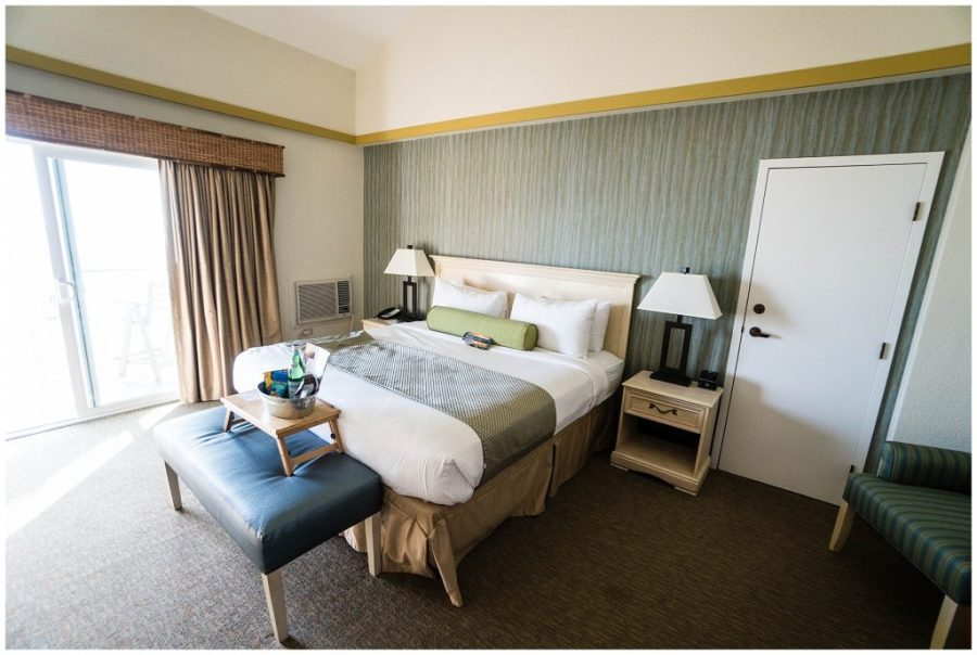 Staying at The Inn at The Cove; hotel room interior