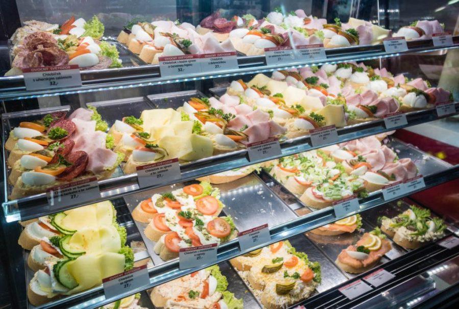 Hidden Sites of Prague; open face sandwich