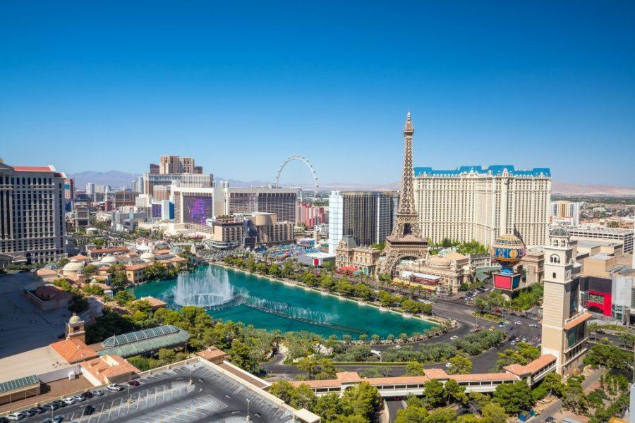 48 Hours in Las Vegas; aerial view of the strip