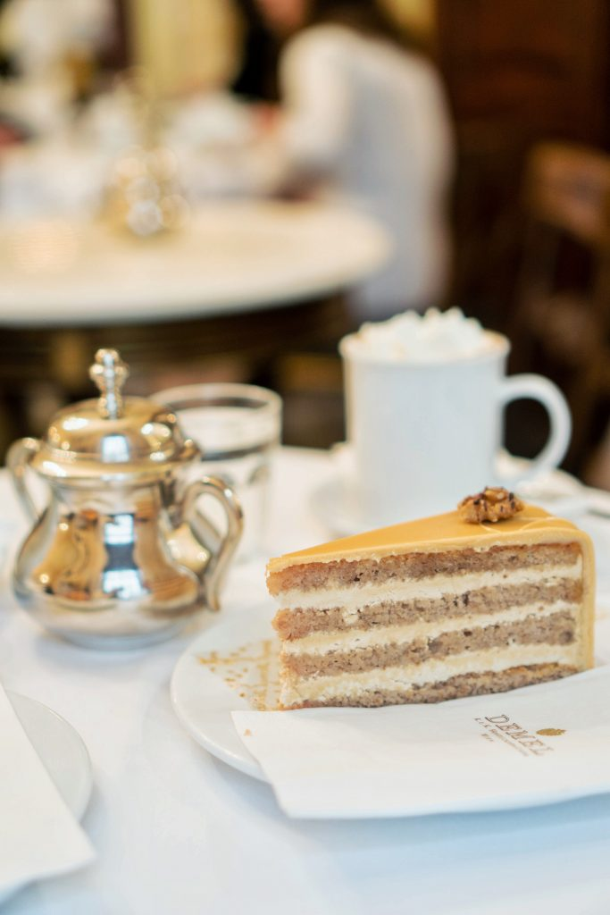 48 Hours in Vienna; Cafe Demel cake and hot chocolate