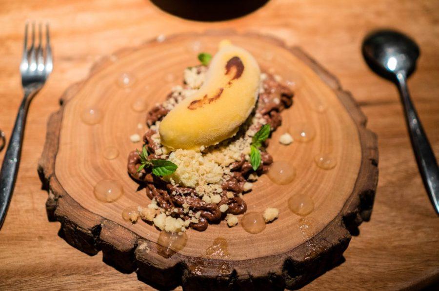 IK Restaurant in Lima; bananas foster