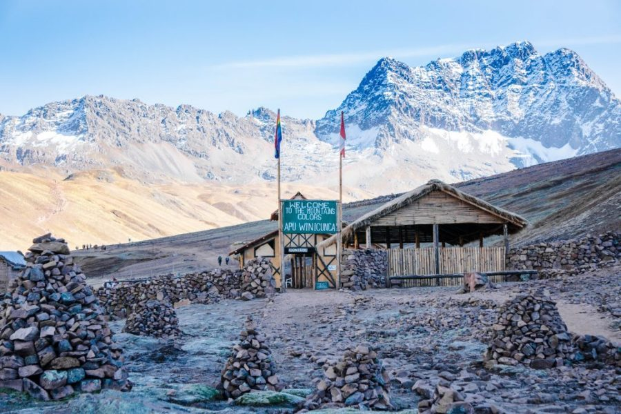 visit Rainbow Mountain; entrance ticketing and mountains
