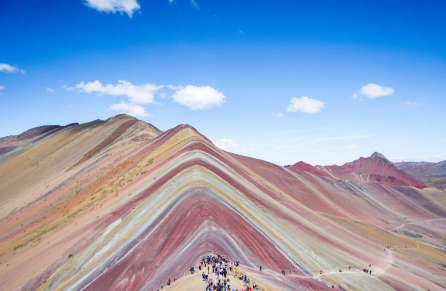visit Rainbow Mountain; mountain view and trek