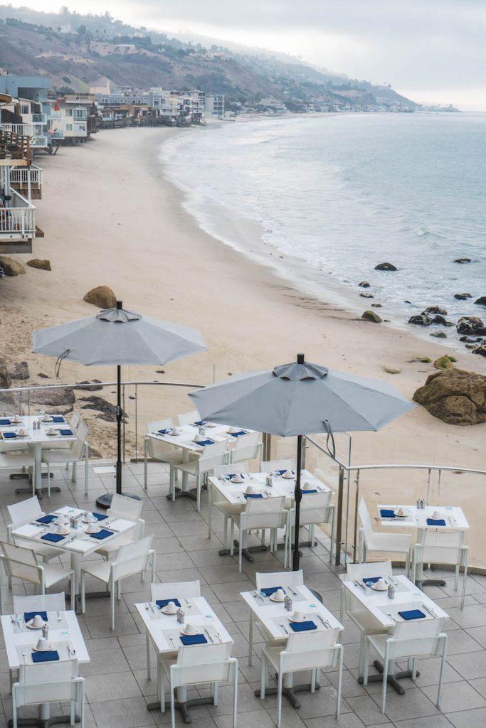 staying at Malibu Beach Inn; exterior Carbon Beach
