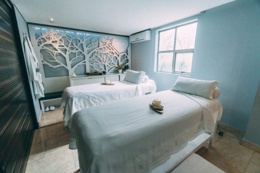 Staying at Sofitel Bogota; interior spa