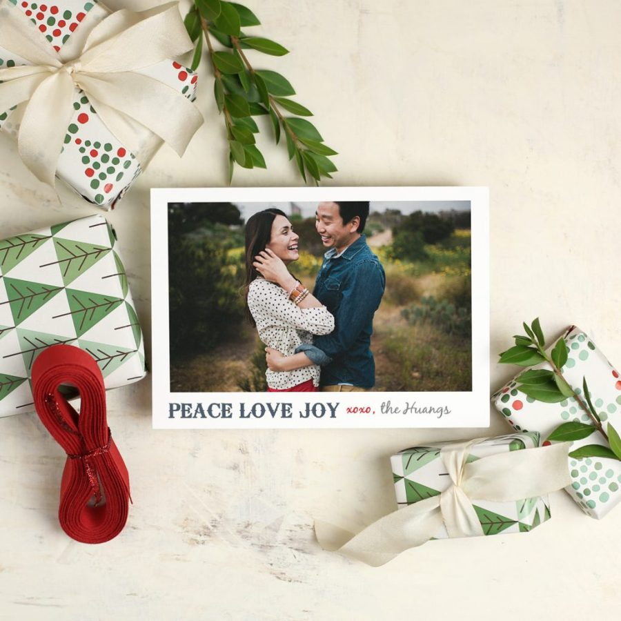 Basic Invite holiday cards couples photo Christmas card