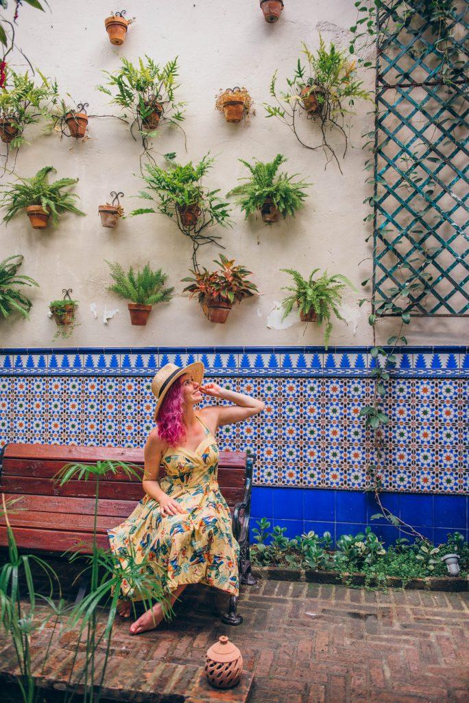 24 Hours in Santo Domingo; interior garden Mamey Libreria Cafe