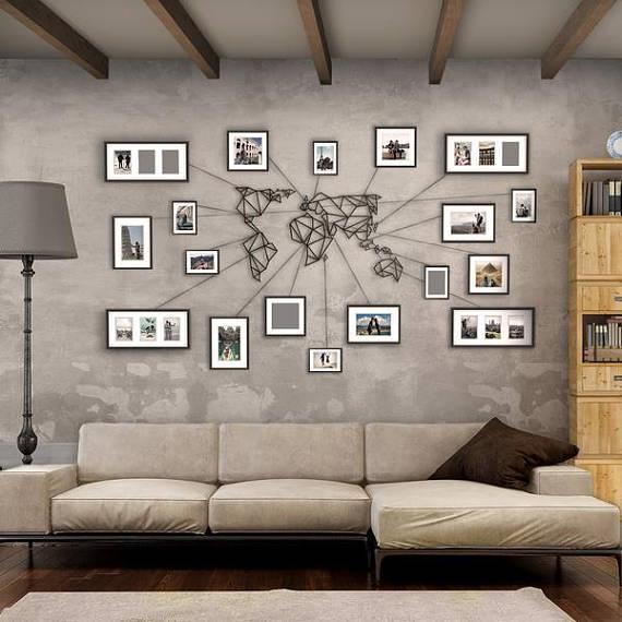 best holiday gift list; geometric wall art world map