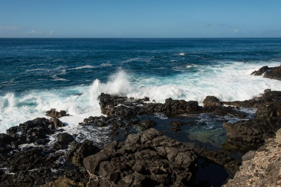 best things to do in Oahu; Kaena tide pools waves crashing