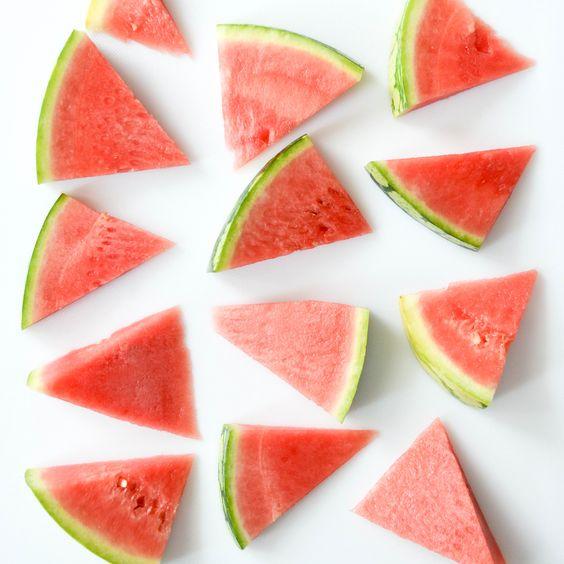hydration tips for summer; watermelon sliced flatlay