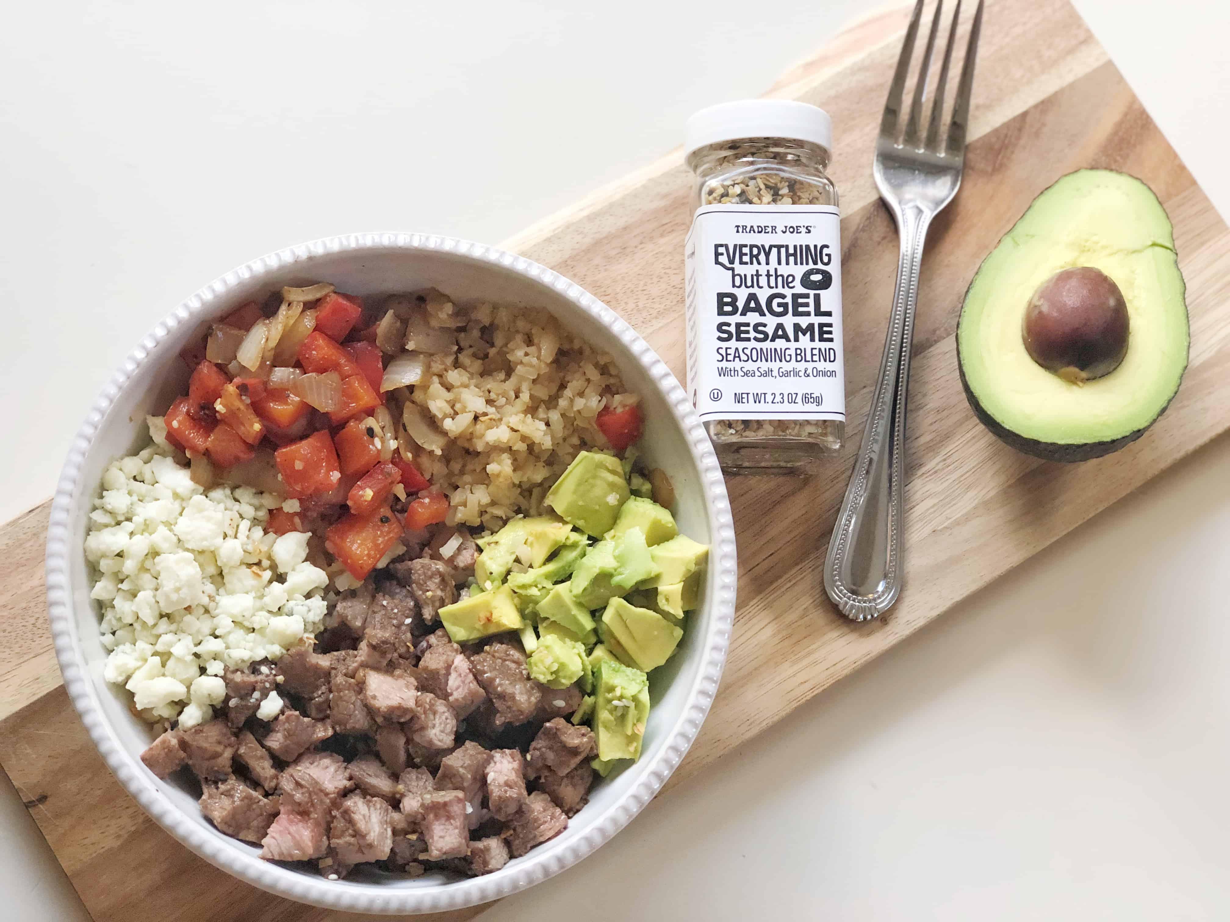 Steak and Cauliflower Rice Bowl