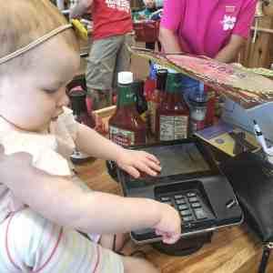 Baby Girl Shopping at Trader Joe's