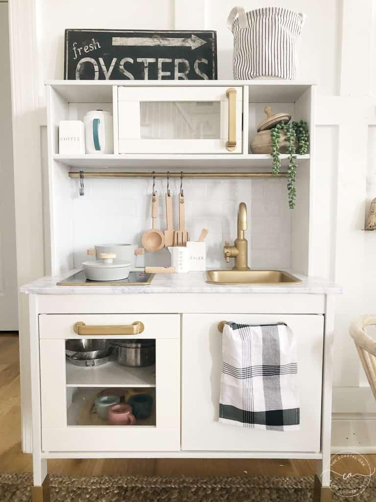 Ikea Play Kitchen Makeover - The Coastal Oak