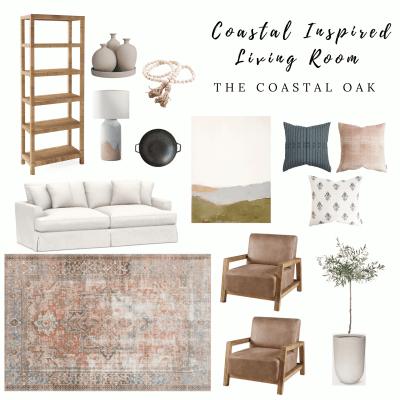 Coastal Inspired Living Room – Splurge & Save