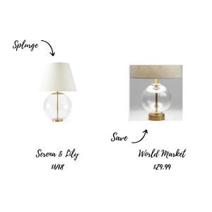 Lighting Splurge and Save
