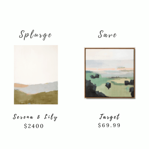 Splurge and Save Art and Accessories