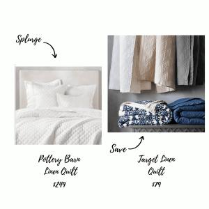 Bedding Splurge and Save