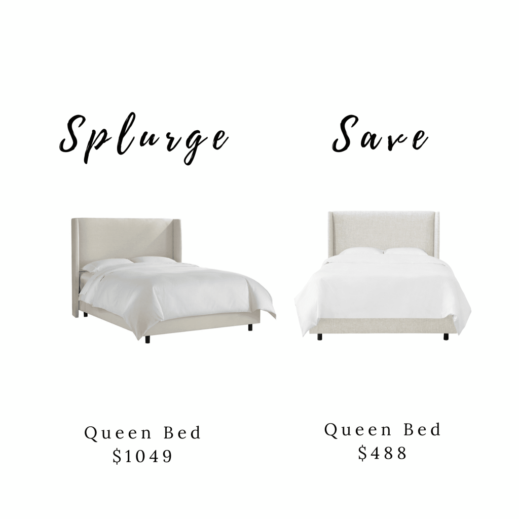 Splurge and Save Bed