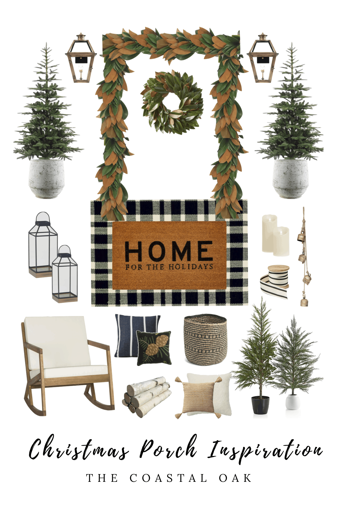 Front Porch Collage for Christmas Decor Inspiration