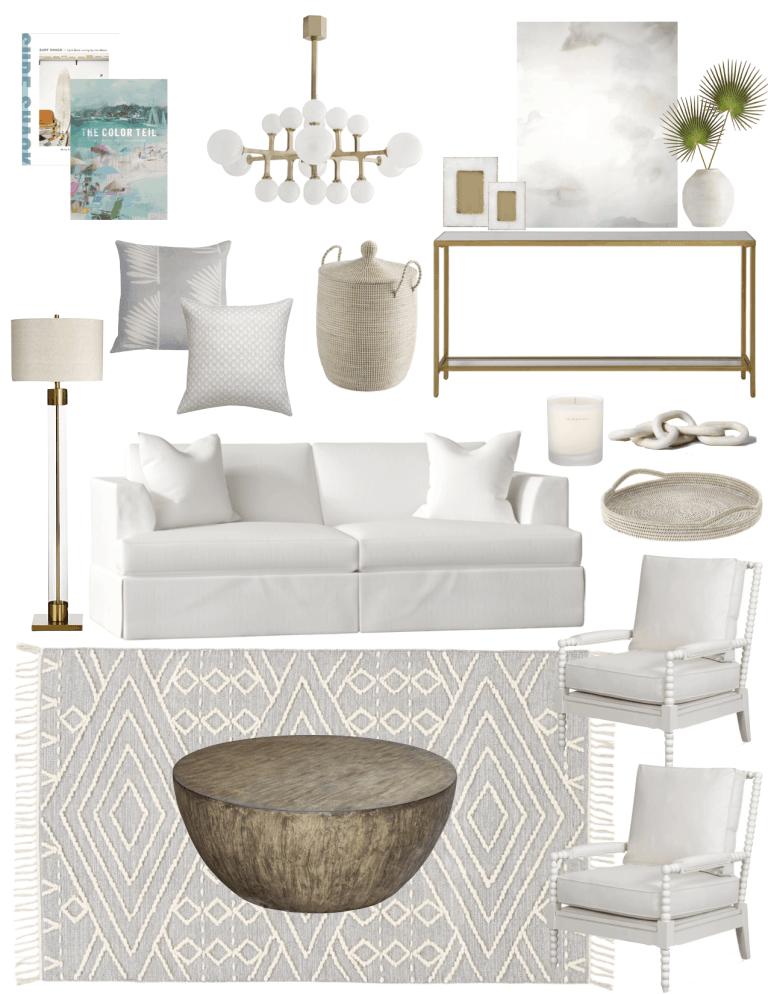 Coastal Living Room Makeover – Splurge & Save
