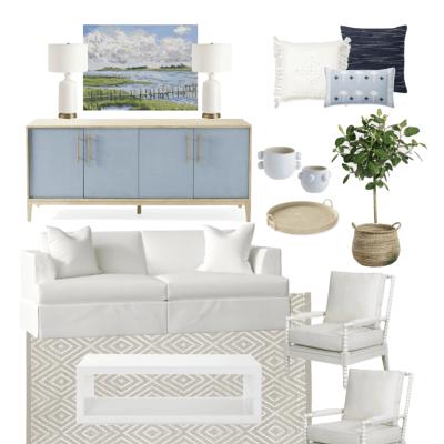 Coastal Living Room – Ten Different Ways