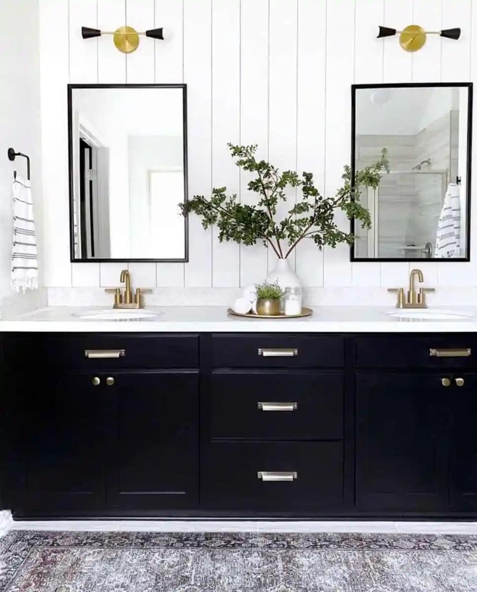 Love Resides Here Vertical Shiplap Bathroom