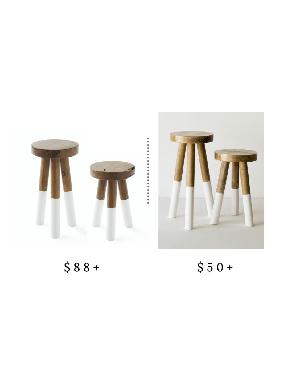 Splurge and Save stool - The Coastal Oak