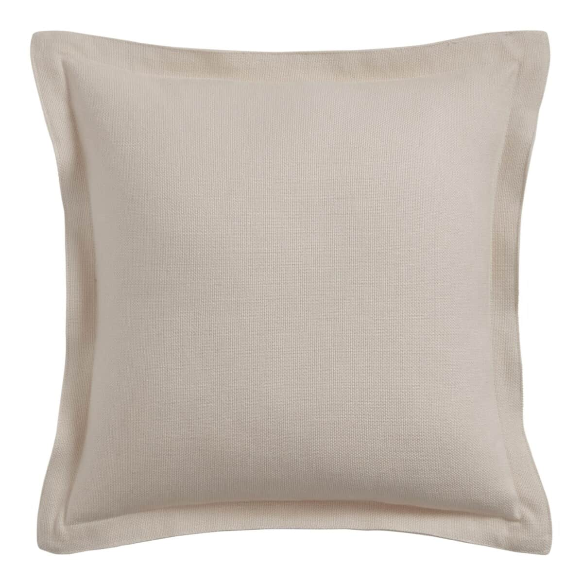 Woven Cotton Basket Weave Throw Pillow