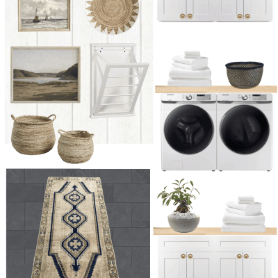 Vintage Coastal Laundry Room Makeover