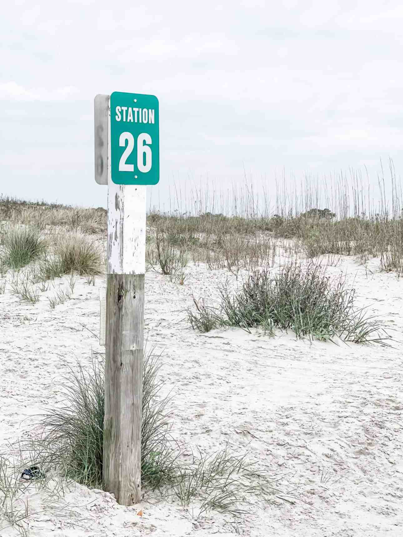 Sullivan's Island Beach Sign