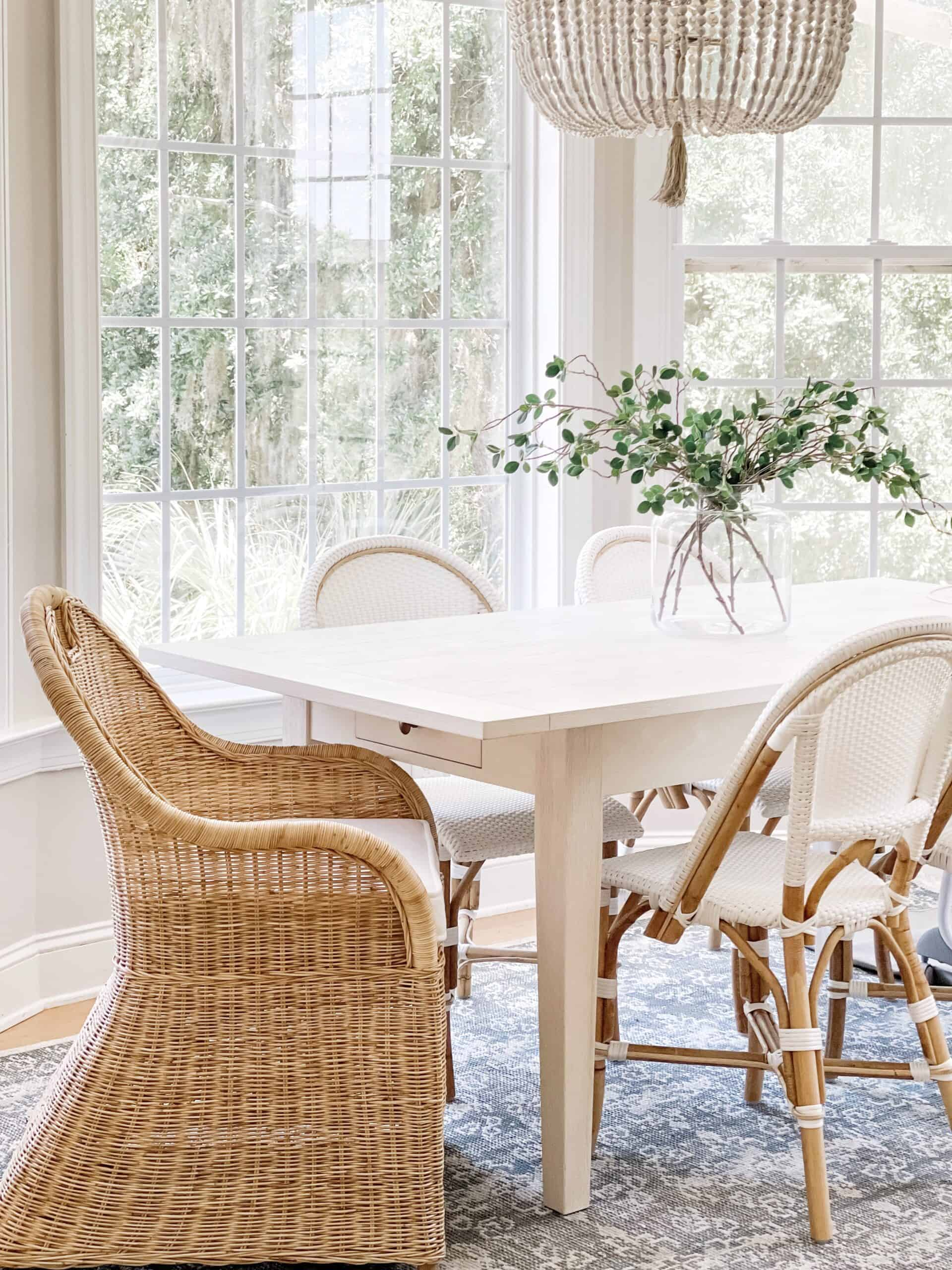 Willomere Rug in the breakfast nook.