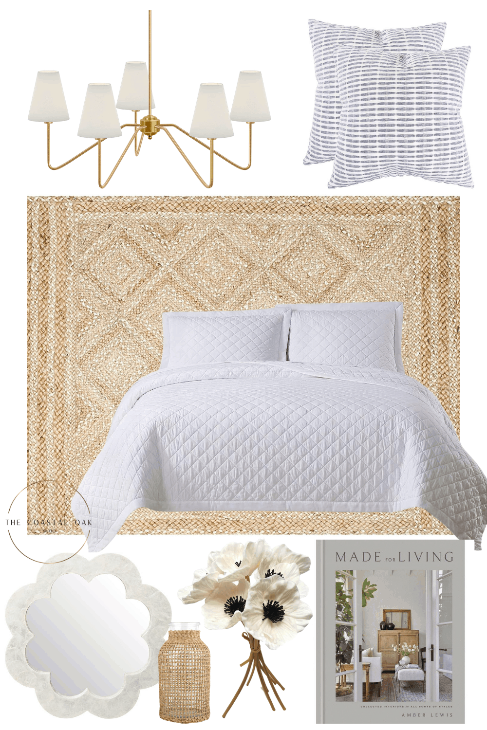 Coastal home decor round-up with Serena & Lily looks for less.