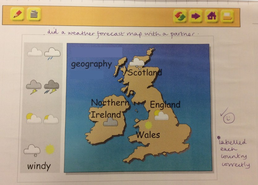 The Cobbs Infant and Nursery School   Year 1 Aut 2  Use  My World  to label countries and create a weather forecast for  Great Britain