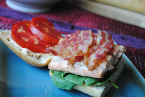Salmon BLT with Chipotle Mayo