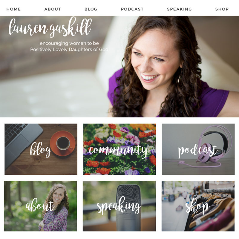 Custom Web Design | LaurenGaskillinspires.com