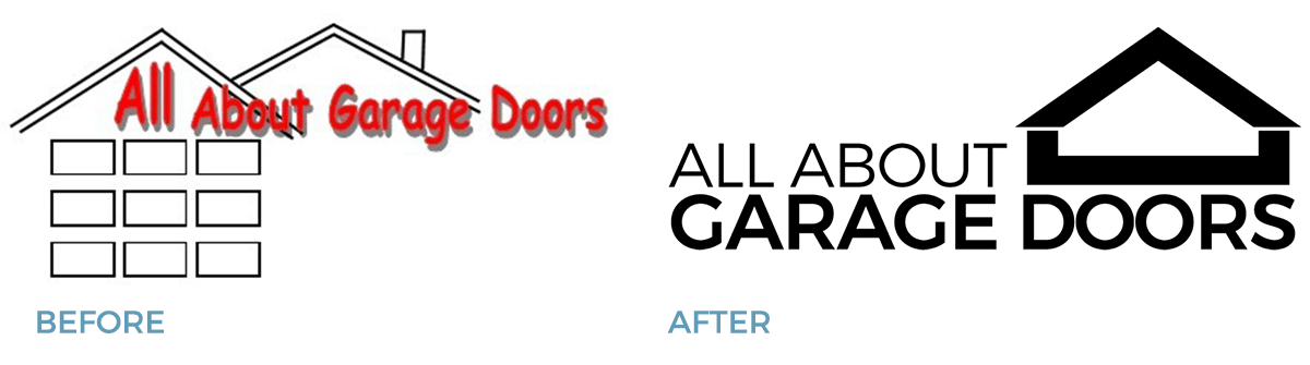 Small Business Logo Design All About Garage Doors Cocoa Creative